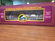Factory New Mth Premier Western Maryland Log Car With Real Logs.