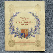 Uniforms Territorial Army Booklet Of John Player And Sons Tobacco Cards Vintage