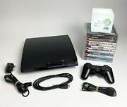 Playstation 3 Ps3 Slim 250gb Console Bundle - 12 Games - Controller - A5
