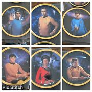 6 Of The Hamilton Collection Star Trek 25th Anniversary Collector Plates