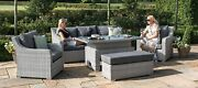 Ascot 3 Seat Sofa Dining Set - With Rising Table And Weatherproof Cushions