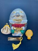 Judith Leiber Humpty Dumpty Crystal Minaudiandegravere - Coin Mirror And Comb