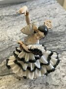 Western Germany Dresden Porcelain Lace Spanish Dancer Woman As Is