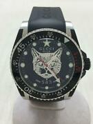 2019 Aw Dive Cat Automatic Rubber Rubber Black Wrist Watch From Japan