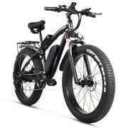 Electric Bike 26in Fat Tire Ebike 48v 1000w Led Display Electric Bicycle 21speed