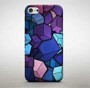 3d Colourful Cubes Rubix Pattern Purple Dreaming Shapes Phone Case Cover