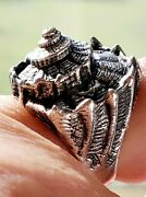 James Avery Incredible Very Rare Wide Conch Sea Shell Ring Size 4.5 Fits 4