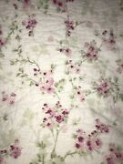 Simply Shabby Chic - King, Cherry Blossom Pink Floral Quilt Cottage