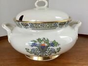 Lenox Autumn Covered Serving Bowl Tureen Gold Backstamp Excellent Condition