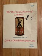 The Beer Can Collectors Of America 1975 First Edition Guide To Us Beer Cans