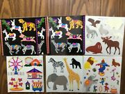 14 Rare Carousel And Carnival Fair And Circus And Animal Mrs Grossmanandrsquos Sticker Sheets