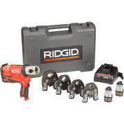 Ridgid 57398 Rp 240 Battery Press Tool Kit W/propress Jaws For 1andiquest2 To 1-1andiquest4 Co