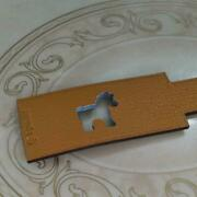 Hermes Petit Ash Horse Leather Charm Keychain Rodeo