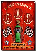Route 66 Last Chance To Fill Up High Gloss Finish Metal Sign.23