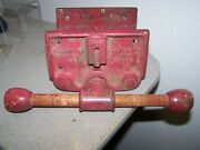 Vintage Columbian Cleveland Ohio 6cd Under Bench Mount Woodworkers Vise