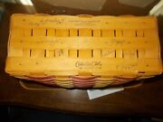 Rare Longaberger 1998 Collectors Club 25th Anniversary Flag Basket Singed By 8+