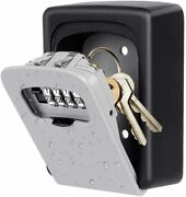 4 Digit Combination Lock Box For House Key Weatherproof Safe Security Key New