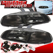 For 92 93 94 95 Civic Hatch/coupe Smoked 1pc Headlights + 8k Hid Kit Assembly
