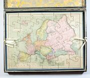 French Jigsaw Puzzle By Auguste Logerot, Full Set 19th Century Fremin Geographer