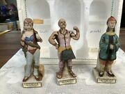 Lionstone Whisky Miniature Circus Decanters Set Of 3 Empty