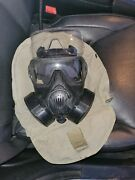 Medium Avon M50 Gas Mask With 2 Filters And Carrying Bag