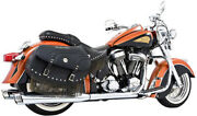 Chrome Duals Full Exhaust W/racing Muffler Frp. In00001 For 09-12 Indian Chief