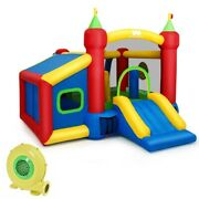 Inflatable Kids Bounce House Slide Jumping Castle Ball Pit With 480w Blower