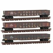 Micro-trains Line 99305890 - Weathered Gondola 3 Pack Union Pacific Up - ...
