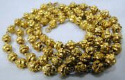 Vintage Antique 23 K Solid Gold Beads Necklace Strand Free Shipping