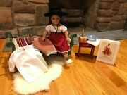 American Girl Josefina Doll W/ Nighttime Bedside Bedding Other Accessories