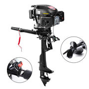 6hp 4 Stroke Outboard Motor Fishing Boat Engine Single Cylinder Air-cool System