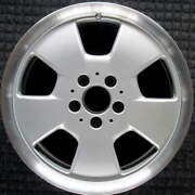 Mercedes-benz S Class Machined Lip W/ Silver Spokes 17 Inch Oem Wheel 1999 To