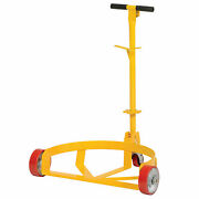 Vestil Lo-dc-mr Low-profile Drum Caddy With Bung Wrench Handle, Mold-on Rubber
