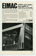 Qst Ham Radio Magazine Ad Eimac 400zs And 500zs Used In Linear Amplifiers 7/68