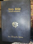 Holy Bible King James Version Red Letter Dictionary Concordance Nelson 162b