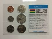 6 Coins Rupee Mint - Mauritius Flag Case Currencies Of World Full New