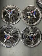 1965 Ford Mustang Spinner Hubcaps 14 Set Of 4 Wheel Covers 65 Hub Caps