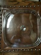 Pyrex Dome Glass Lid 8x12 -c For Corning Ware 10 X 10 In