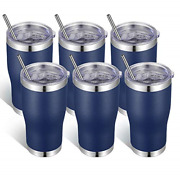 Vegond 20oz Stainless Steel Tumblers Bulk Tumbler Cup With Lid And Straw Vacuum