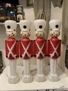 Lot Of 4 Vintage Union Products Toy Soldier Lighted Blow Molds