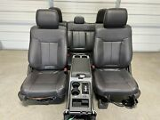 2009-2014 Ford F150 Black Leather Front And Rear Seats With Console Full Power