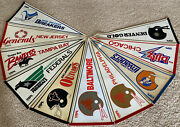 Lot 10 Vintage 80and039s Usfl Football Pennants Invaders Blitz Gold Stars Generals