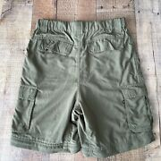 Boy Scout Switchback Uniform Cargo Shorts Green Nylon Relaxed Fit Youth Sz Xl