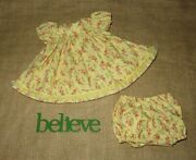 Handmade Doll Clothes For 18 - 20 Baby Dolls - Sunny Days Floral Dress Set