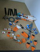 Lego City Coast Guard Helicopter And Life Raft 7738 Incomplete
