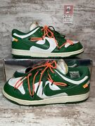Nike Dunk Low Off White Pine Green Size 10.5 Worn Good Condition In Box Og All