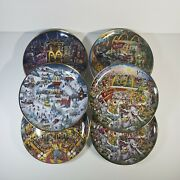 Mcdonalds Golden Collection Plates By Bill Bell Set From Franklin Mint Complete