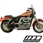 3-shield X Pipes Full Exhaust - Black Sup. 138-71442 For 91-05 Harley Dyna
