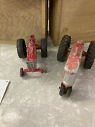Vintage Lee Toys Metal Toy Tractor And International Harvester Ih Toy Tractor