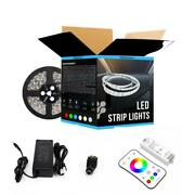 Outdoor Waterproof Rgb Led Strip Lights, 12v With Power Supply And Controller Kit